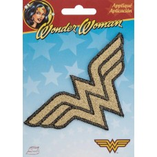 WONDER WOMAN SHIMMER LOGO IRON ON PATCH