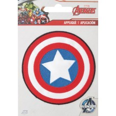 CAPTAIN AMERICA SHIELD IRON ON PATCH