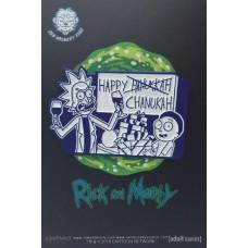 RICK AND MORTY HAPPY CHANUKAH PIN
