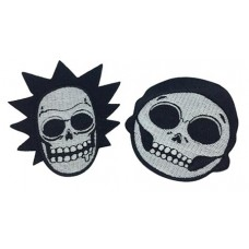 RICK AND MORTY GLOWING R&M SKULLS PATCHES SET
