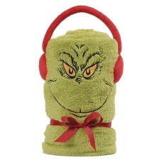 SNOWPINIONS GRINCH SNOW THROW BLANKET