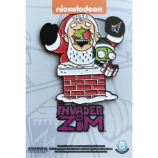 INVADER ZIM SANTA ZIM AND ELF GIR PIN