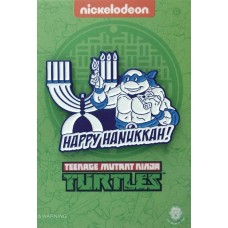 TMNT LEONARDO LIGHTING THE MENORAH PIN