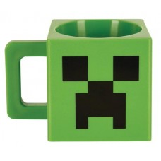 MINECRAFT PLASTIC CREEPER FACE MUG