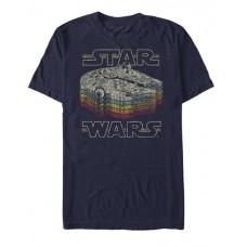 STAR WARS RETRO COLOR NAVY T/S MED