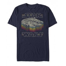 STAR WARS RETRO COLOR NAVY T/S LG