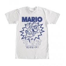 SUPER MARIO MARIO KANJI TEAL T/S LG