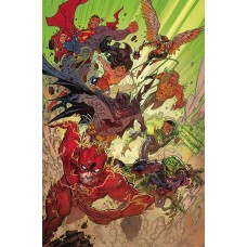 JUSTICE LEAGUE #33 CARD STOCK DCEASED VARIANT @D