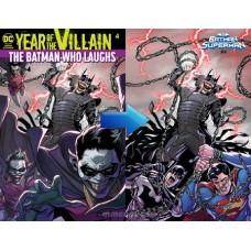 BATMAN SUPERMAN #4 ACETATE COVER YOTV @D