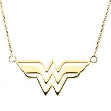 DC WONDER WOMAN GOLD LOGO NECKLACE @U