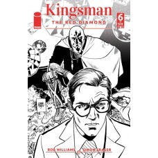 KINGSMAN RED DIAMOND #6 (OF 6) CVR B B&W PARLOV (MR)