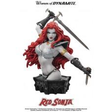 WOMEN DYNAMITE RED SONJA ARTHUR ADAMS BUST B&W