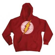 DC HEROES FLASH LOGO RED HOODIE XXL