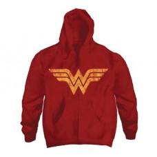 DC HEROES WONDER WOMAN LOGO RED HOODIE LG
