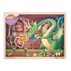 MELISSA & DOUG KNIGHT VS DRAGON 48PC JIGSAW PUZZLE