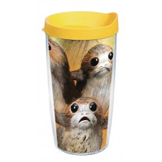 STAR WARS LAST JEDI PORG 16OZ TUMBLER W/ YELLOW LID