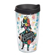 ALICE IN WONDERLAND CURIOUSER 16OZ TUMBLER W/ BLACK LID