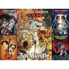 ARMY OF DARKNESS BUBBA HOTEP #1 CVR A - E REG & VARIANT 5PC BUNDLE