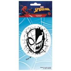 MARVEL HEROES SPIDER-MAN FOIL VENOM HALF FACE VINYL DECAL