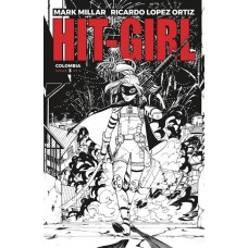 HIT-GIRL #3 CVR B B&W REEDER (MR)