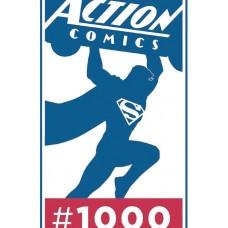DF ACTION COMICS #1000 JURGENS SGN HAESER REMARKED