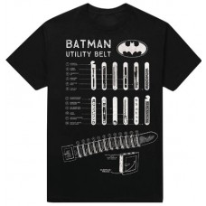 DC BATMAN UTILITY BELT PX BLACK T/S SM