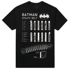 DC BATMAN UTILITY BELT PX BLACK T/S XL