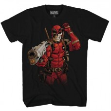 DEADPOOL SKULL SHOT BLACK PX T/S MED