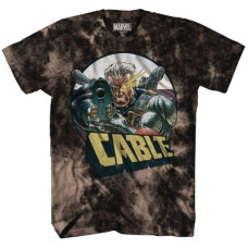 MARVEL CABLE AIM BLACK ACID-WASH PX T/S XXL