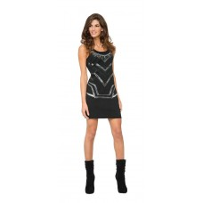 BLACK PANTHER TANK DRESS MED