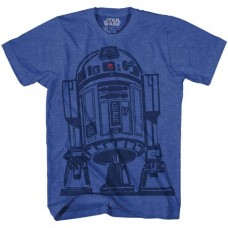 STAR WARS BIG CAN ROYAL HEATHER T/S MED