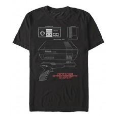 NINTENDO NES SCHEMATIC BLACK T/S XL