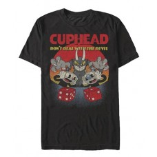 CUPHEAD OH NOES BLACK T/S SM