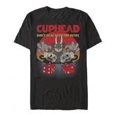 CUPHEAD OH NOES BLACK T/S LG