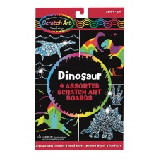 MELISSA & DOUG DINOSAUR SCRATCH ART BOARDS