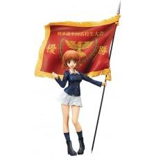 GIRLS UND PANZER MOVIE MIHO NISHIZUMI 1/7 PVC FIG W/ FLAG
