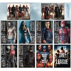 JUSTICE LEAGUE MOVIE 48 PIECE MAGNET ASST