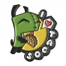 INVADER ZIM I LOVE TACOS LAPEL PIN