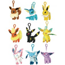 POKEMON EEVEE PLUSH CLIPS 9PC DIS