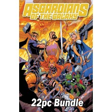 ASGARDIANS OF THE GALAXY #8 AND ASSORTED ASGARDIAN THEME VARIANT 22PC BUNDLE