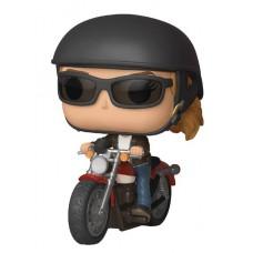 POP RIDE CAPTAIN MARVEL CAROL DANVERS ON MOTORCYCLE VIN FIG