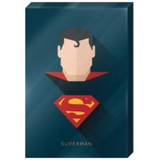 DC SUPERMAN HIGH GLOSS 13X19 IN CANVAS WALL ART
