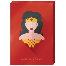 DC WONDER WOMAN HIGH GLOSS 13X19 IN CANVAS WALL ART