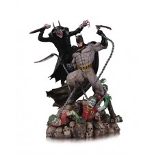 BATMAN WHO LAUGHS VS BATMAN BATTLE STATUE @W