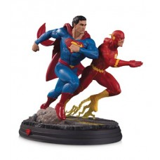DC GALLERY SUPERMAN VS FLASH RACING STATUE 2ND ED @W