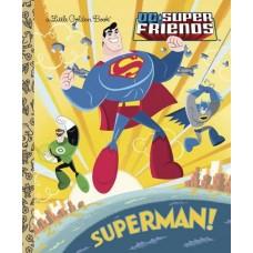 DC SUPER FRIENDS SUPERMAN LITTLE GOLDEN BOOK HC @F