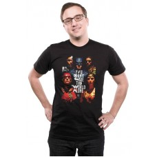 JUSTICE LEAGUE SAVE THE WORLD T/S MED