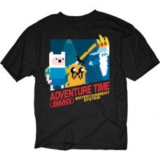 ADVENTURE TIME 8-BIT ADVENTURE BLACK T/S MED