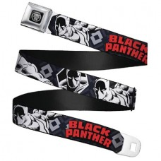 BLACK PANTHER LOGO SEATBELT BELT