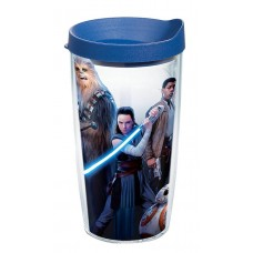 STAR WARS E8 LAST JEDI GROUP 16OZ TUMBLER W/ BLUE LID